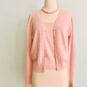 Neiman Marcus Cashmere Collection Cardigan Set Med
